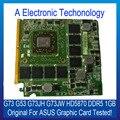 Original HD5870 Placa Gráfica Para ASUS G53 G73 G73JH G73JW Placa de Vídeo GPU NVIDIA DDR5 1 GB Display Substituição Testado