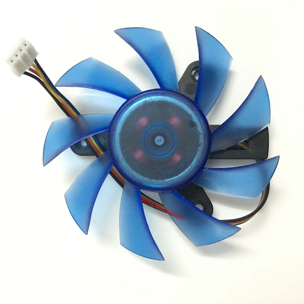 FD8015U12S 75mm DC 12V 0.5A 4Pin Computer VGA Video Card Cooler Fan Replace For HIS HD5830 HD5850 Graphics Card cooling ga8202u gaa8b2u 100mm 0 45a 4pin graphics card cooling fan vga cooler fans for sapphire r9 380 video card