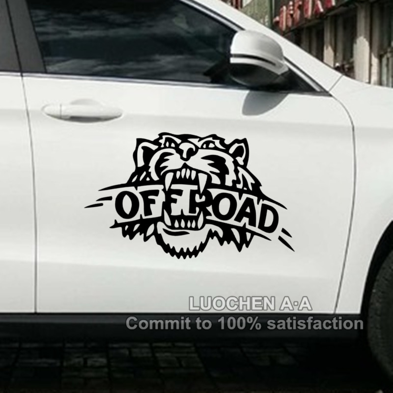 Car stickers tiger off road creative decals for suv jeep waterproof auto tuning styling vinyls 4wd 4x4 34x22cm 50x32cm d20 in car stickers from