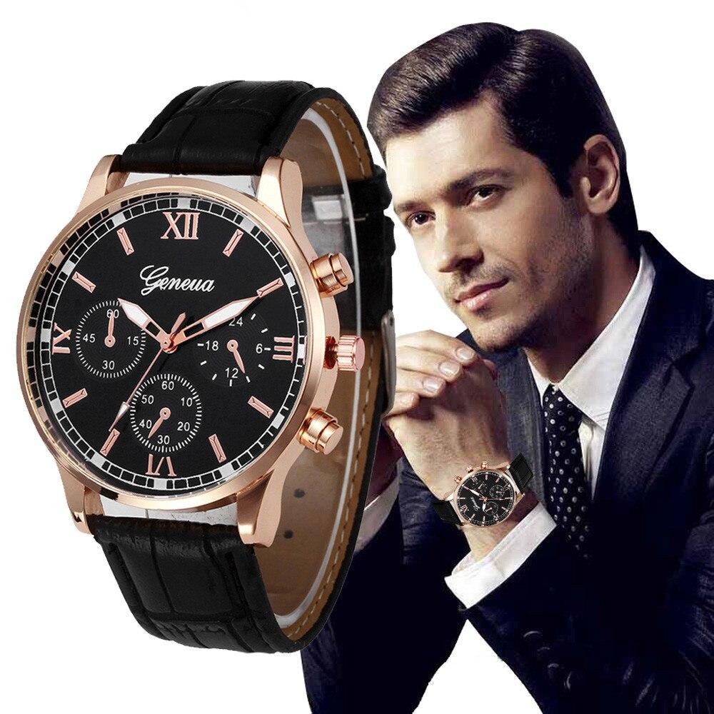 2017 New Retro Design Leather Band Analog Alloy Quartz Wrist Watch Dropshippig L529 stylish bracelet zinc alloy band women s quartz analog wrist watch black 1 x 377