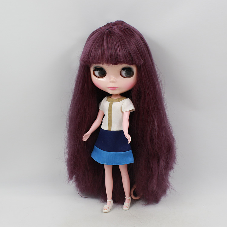 11.5 fashion dolls Nude Blyth doll big eyes b female fashion doll long hair with bangs for modified mini dolls for girls 28 5cm mini nude doll blyth bjd doll doll blonde long hair with bangs modified diy doll girls favorite fashion doll