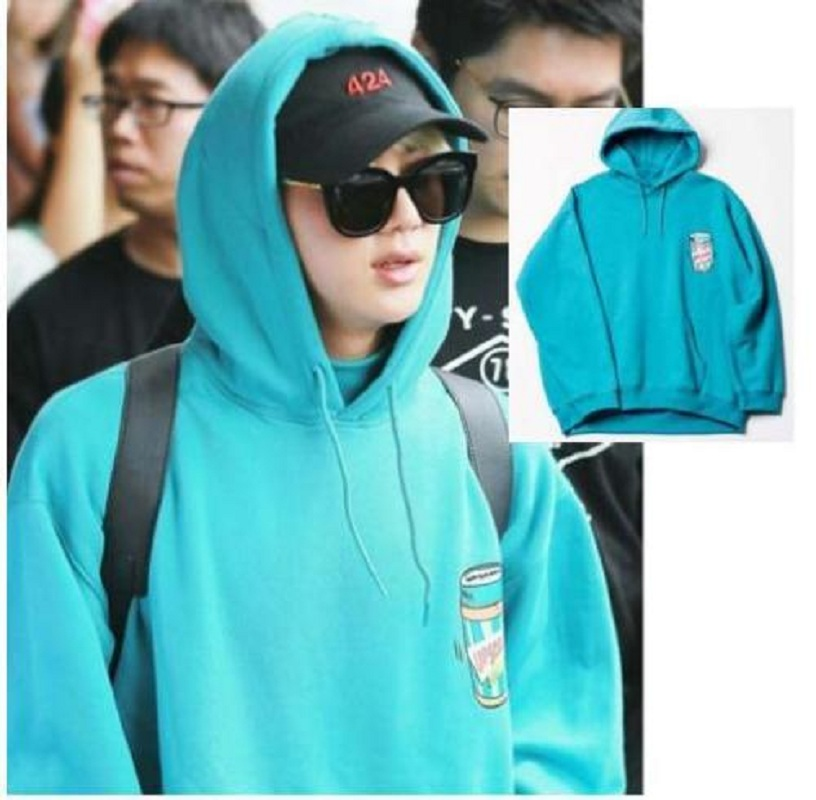 Mainlead KPOP BTS JIN Cap Hoodie Unisex Bangtan Boys Sweatershirt Pullover Coat ...