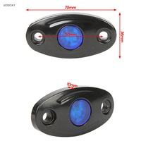 Free Shipping Pair 9W LED Rolling Rock Light For Jeep Car Truck Boat Yacht Chassis Lights