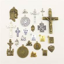 Charms For Jewelry Making I Love God Jesus Cross The Bible Accessories Parts Creative Handmade Birthday Gifts(China)