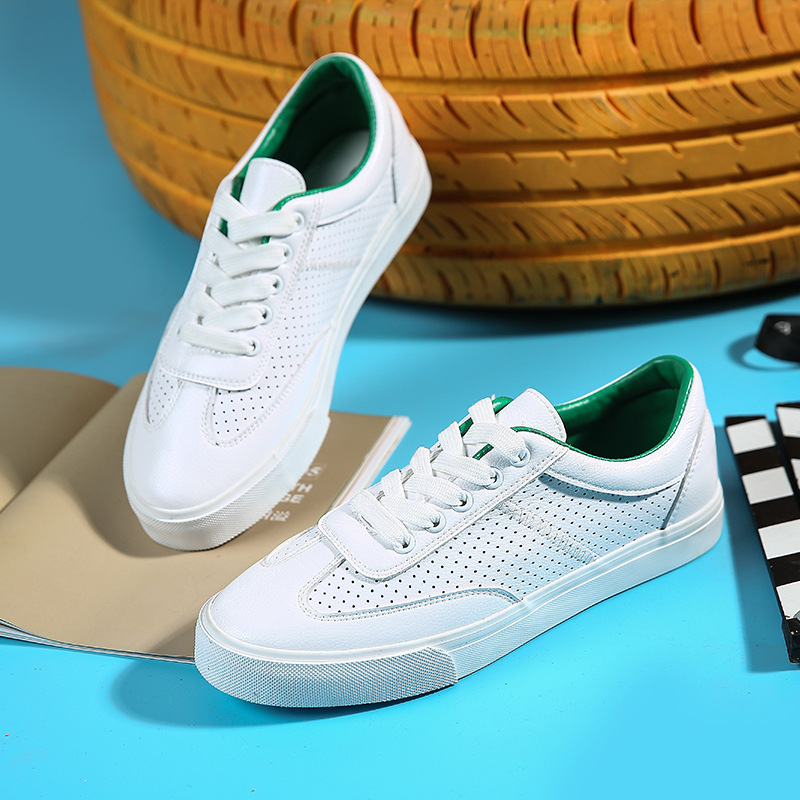 Women Sneakers White 2018 New Female Casual Shoes for Summer Leather Breathable Lace Up Flats Zapatillas Deportivas Mujer 35-40 beautyfeet women shoes female genuine leather lace up casual shoes woman flats white shoes candy color breathable ladies shoes
