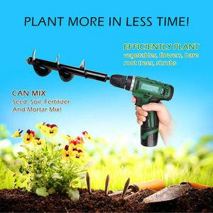 Image 2 - Nieuwe Aarde Boor Ijs Boor Tuin Vijzel Spiraal Boor Machine Bit Bloem Planter Vijzel Yard Tuinieren Planten Gat Graver Tool