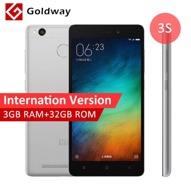 "Repaired! Original Xiaomi Redmi 3S Pro Prime International Version Mobile Phone Snapdragon 430 Octa Core 5"" HD 3GB RAM 32GB"