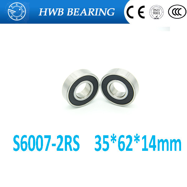 S6007RS SS6007RS SB6007RS S6007-2RS S6007 6007 stainless steel 440C deep groove ball bearing 35x62x14mm carbon steel 62mm x 35mm x 14mm rollerblade deep groove ball bearing 6007 2rs