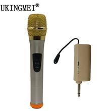 UKINGMEI UK-N160 Portátil UHF Sistema de Microfone Sem Fio Handheld Microfone Dinâmico Microfone Para karaoke KTV