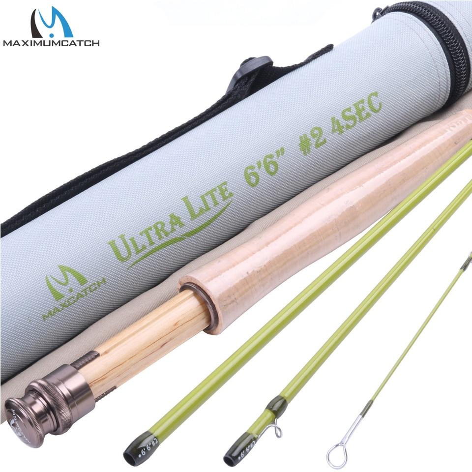 ФОТО Maximumcatch Fly Fishing Rod 6.6FT 2WT 4Pcs Fast Action Super Light Fly Rod