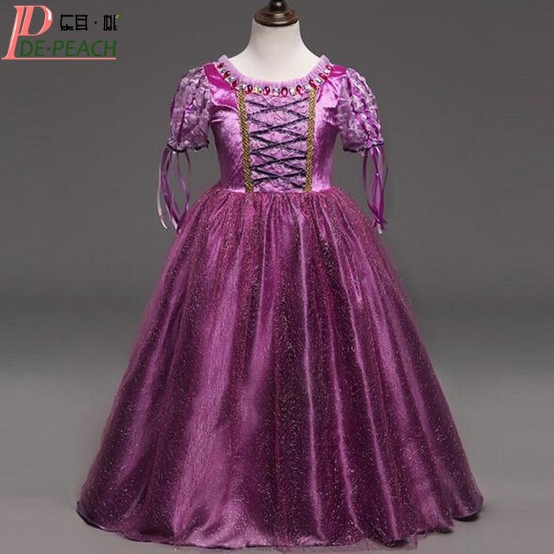 2017 Vestido Baby Girls Purple Dress Fashion Sophia Princess Christmas Dresses Kids Party Ball Gown Costume Childrens Clothing