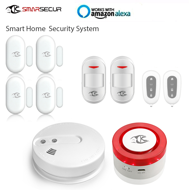 Home security Mini smart home security wifi alarm siren sensor for smart life app
