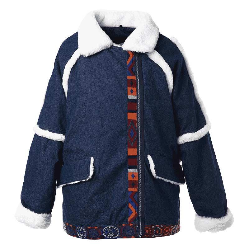 Зимняя куртка Для женщин Теплая парка пальто Вышивка Denim куртка зимняя Для женщин куртка пальто зимнее пальто парки зимняя куртка Для женщи