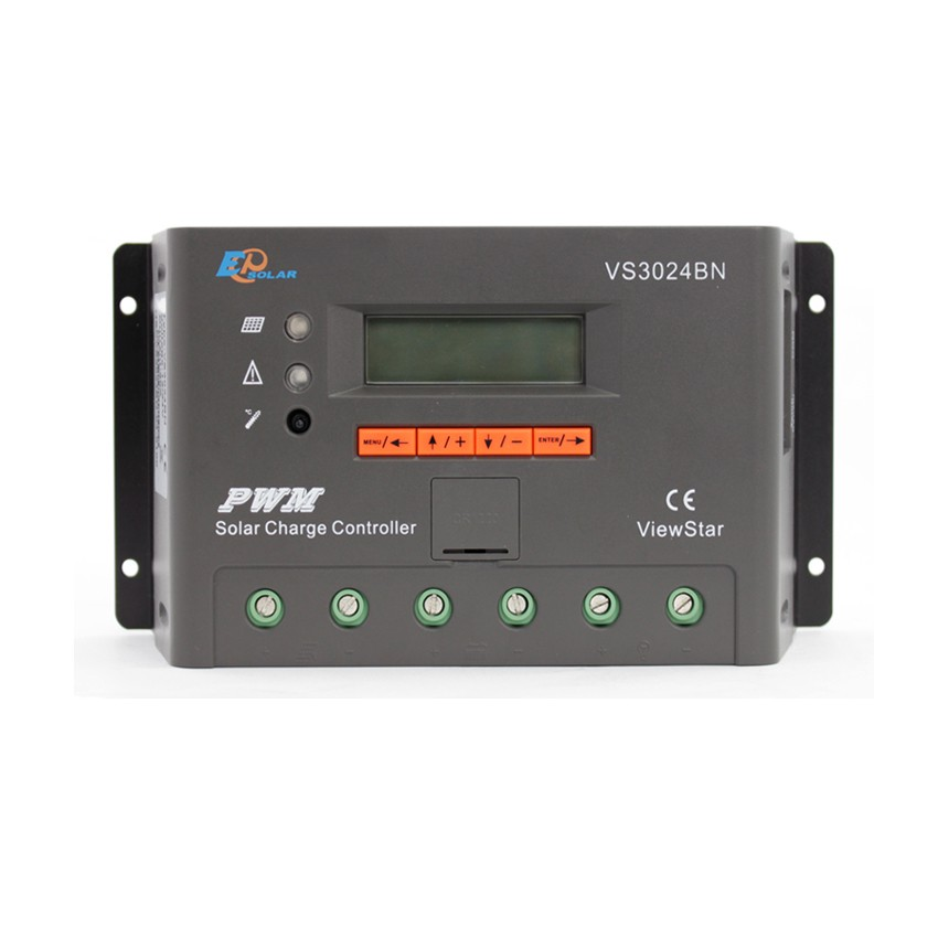 EPSOLAR VS3024BN 30A ViewStar VS3024BN 12V 24V Auto EP PWM Solar Charge Controller LCD Display 24v 30amp epsolar epever new series solar controller vs3024bn charger lcd display 30a 12v 24v auto work