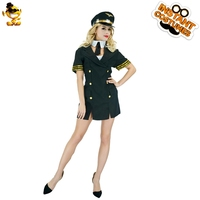 DSPLAY New Style Sexy Air Hostess Fancy Dress Halloween Cosplay Airline Stewardess Costume Roleplay Carnival Ladies Career Suits