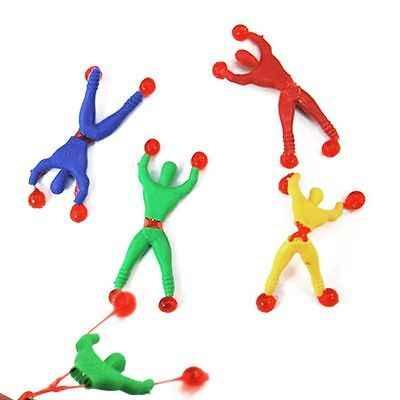 1 قطعة متعة مرنة تسلق الرجال لزجة جدار تسلق الوجه سبايدرمان ألعاب أطفال دعم قطرة الشحن دعم انخفاض الشحن