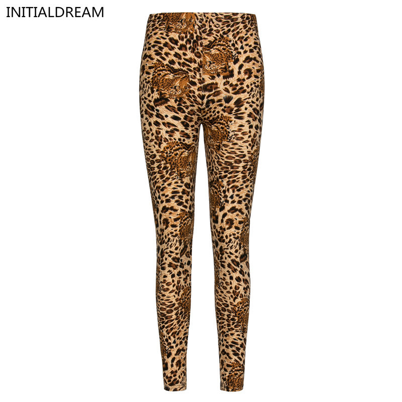 Wiele stylów rekreacyjnych fitness legginsy kwiatowe leopard Skinny - Ubrania Damskie - Zdjęcie 2