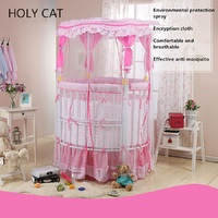 Holycat tieyi baby bed twins circle multifunctional baby bed game bed eco friendly fabric baby bed