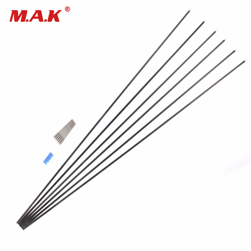 6 12 Pcs X10 Carbon And Aluminum Hybrid Set Arrow 32 Inches Spine 550 Outer Diameter