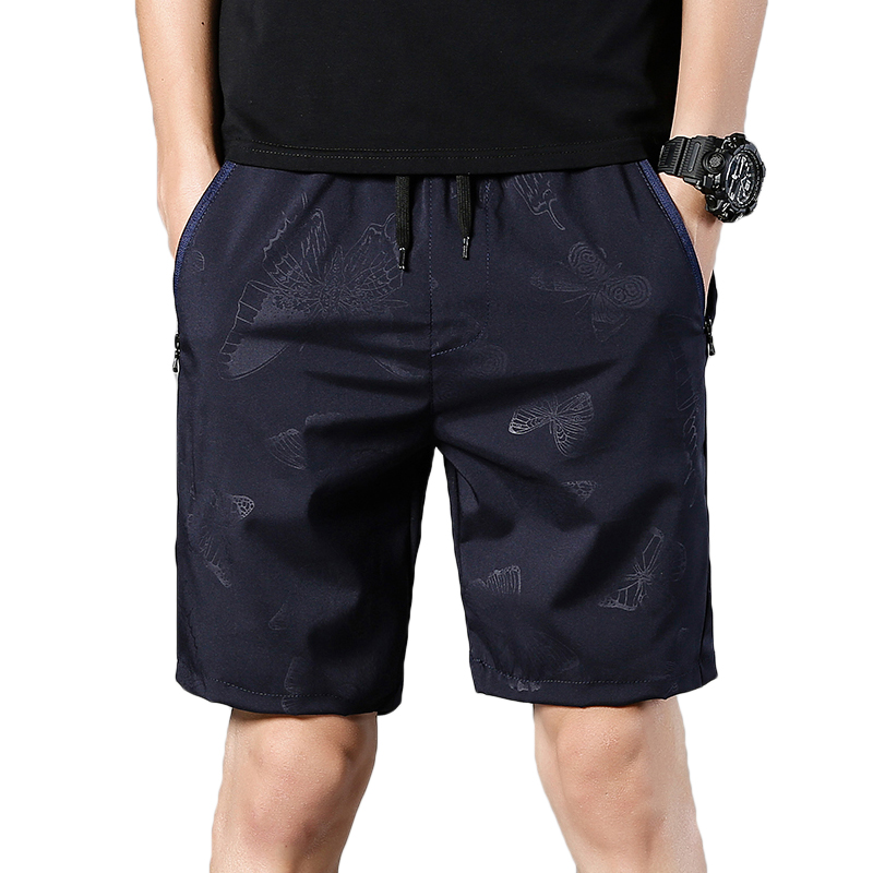 Casual Shorts Bermuda Quick-Drying Straight Men's Summer Fashion Brand New Male Print