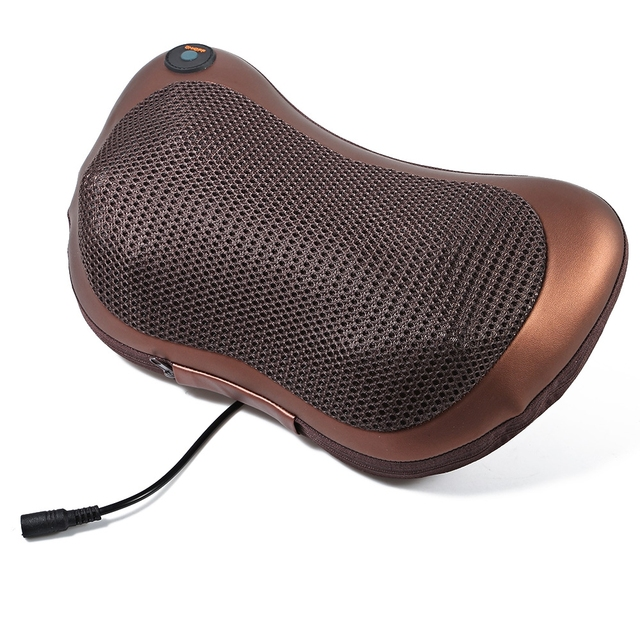 Hot Sellling Durable Imitating Manual Multi Function  50 – 60Hz 4 Balls Neck Back Deep Kneading Massage Pillow For Car Home