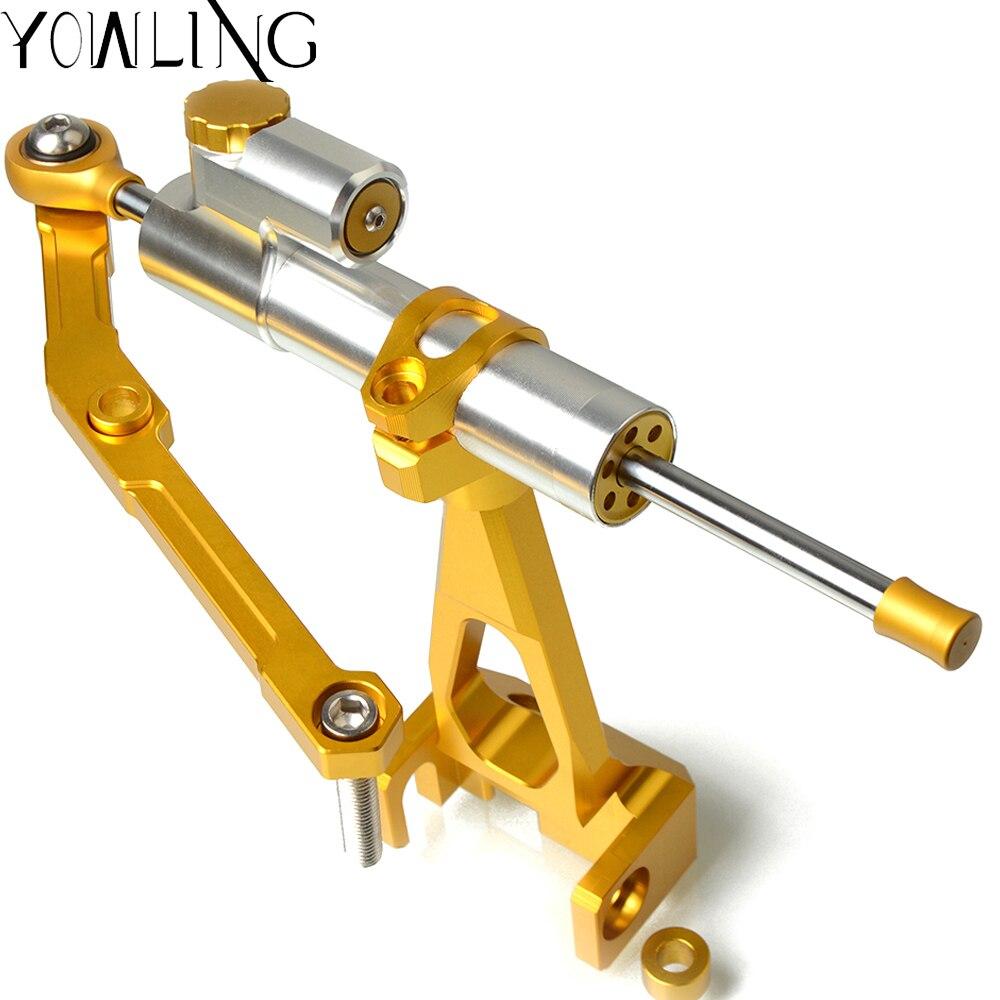 CNC Damper Steering StabilizerLinear Reversed Safety Control Shock Resistance Vibration Bracket For Yamaha MT09 MT 09