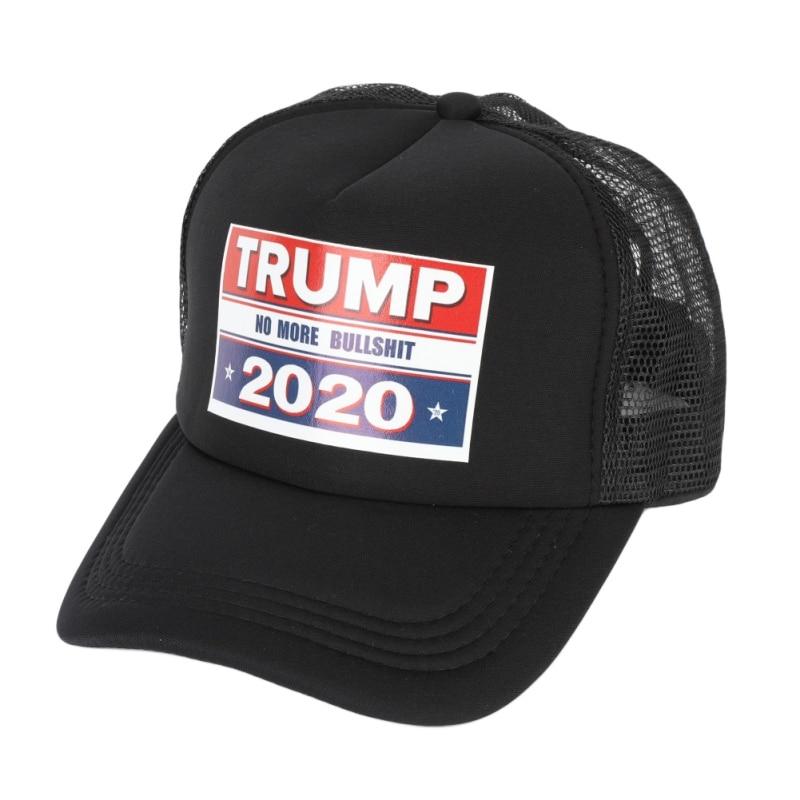 Trump Print Baseball Cap Presidential Election Mesh Hats Adjustable Peaked Caps Breathable