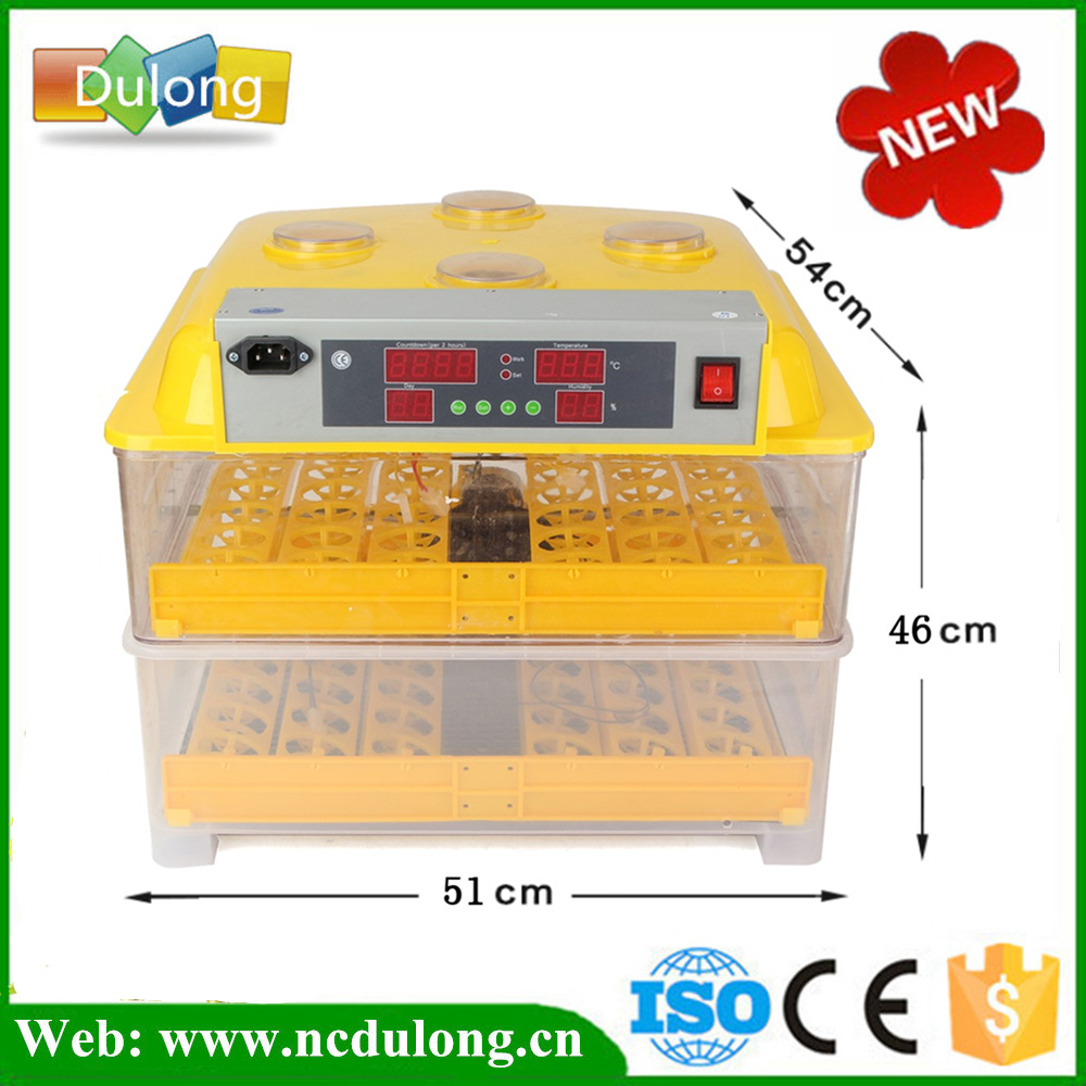 Plastic 96 Digital Chicken Eggs Incubator Temperature