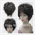 Graceful Hairstyle Short Curly about 5Inches Dark Brown Perfect Full Wig free shipping