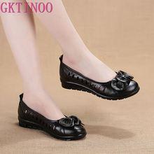 GKTINOO nouvelles sandales dété en cuir véritable pour femmes confortables, plates et souples, sandales de gladiateur creux pour chaussures mères