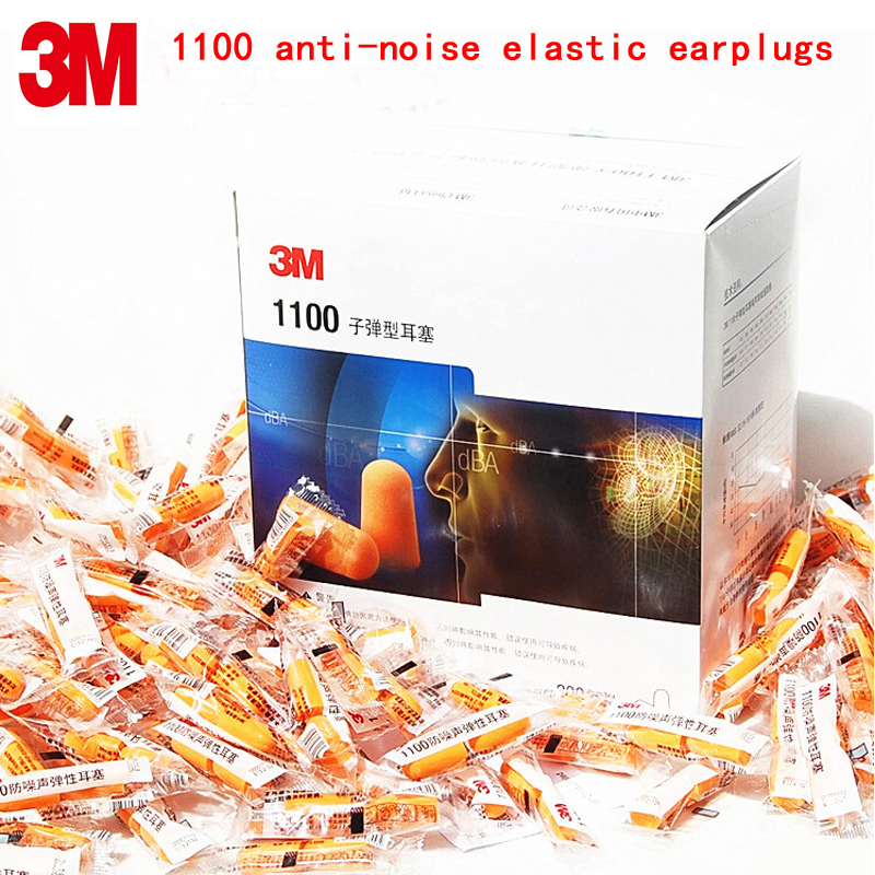 3M 1100 Noise Earplugs Genuine Security 3M Protectores Auditivos Sponge Soundproof Earplugs 3 Kinds Of Sales Methods