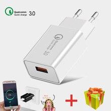 Carregador USB Power Adapter Fast Charger QC 3.0 For iphone Xiaomi Samsung Carregadores Universal Portatil De Celular Tomada 18W