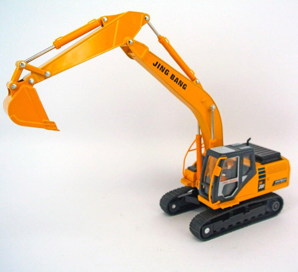 jing bang 1:50 bagger kinderspielzeug auto gabelstapler legierung