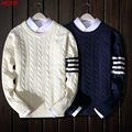 2017 men's men's cultivate one's morality with thick knit sweater trend Qiu dong outfit sweater