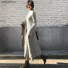 Long Midi robe Neck
