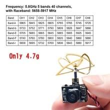 AKK A3 5.8 Gam 40CH VTX 0/25 mW/50 mW/200 mW Có Thể Chuyển Đổi Cmos 1/3 600TVL Micro AIO Camera cho FPV Drone Giống Như Tiny Whoop Lưỡi Inductrix