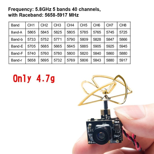 AKK A3 5.8G 40CH VTX 0/25mW/50mW/200mW Switchable 600TVL 1/3 Cmos Micro AIO Camera for FPV Drone Like Tiny Whoop Blade Inductrix
