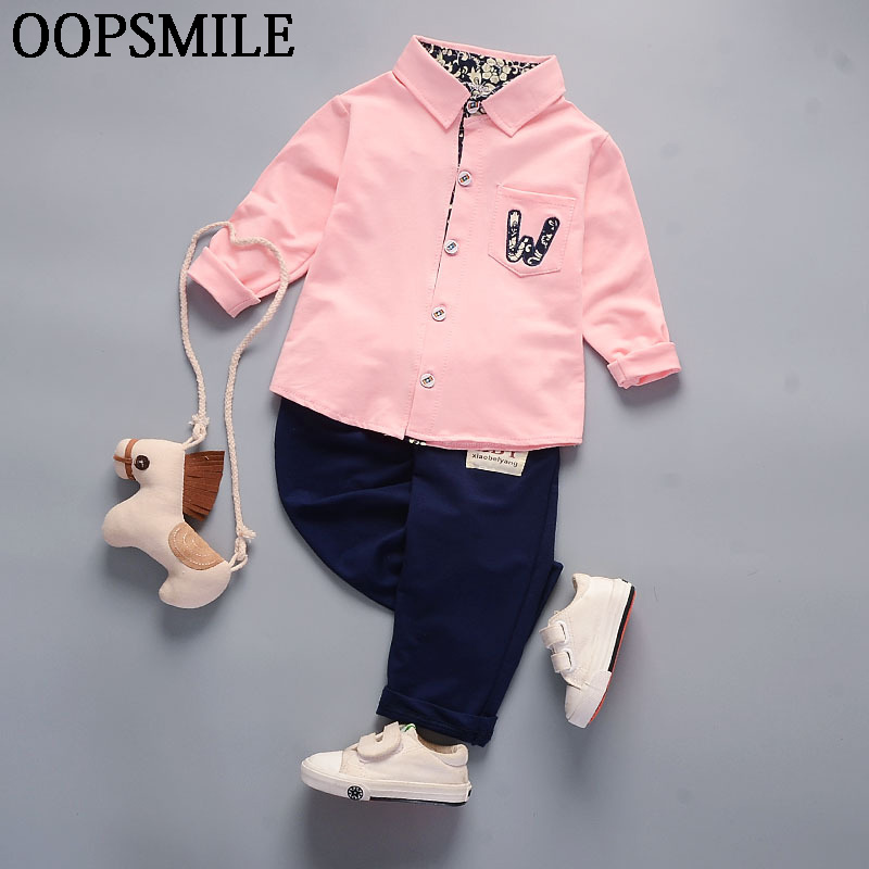 Baby boys Suits Clothes Spring/Autumn Baby boys fashion Cotton Set shirt+jeans pants 2pcs Children Clothing Sets boys Clothes