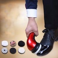 1Set EU Plug Portable Handheld Automatic Electric Shoe Brush Shine Polisher 2 Ways Power Supply