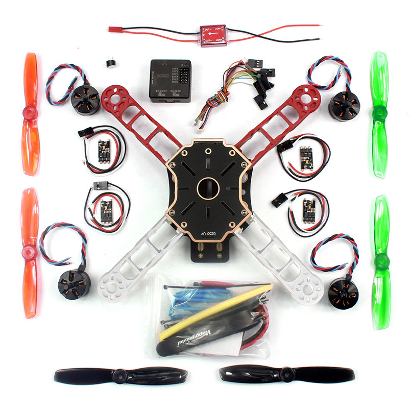 JMT Mini 250 RC Quadcopter Combo ARF Q250 Frame+CC3D Flight Controller +Emax Simon 12A ESC +Brushless Motor MT2204 CW CCW