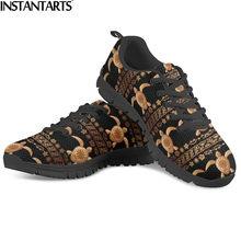 INSTANTARTS – baskets de marche confortables en maille pour femmes, style Tribal hawaïen, chaussures décontractées, imprimé tortue de mer polynésienne en 3D