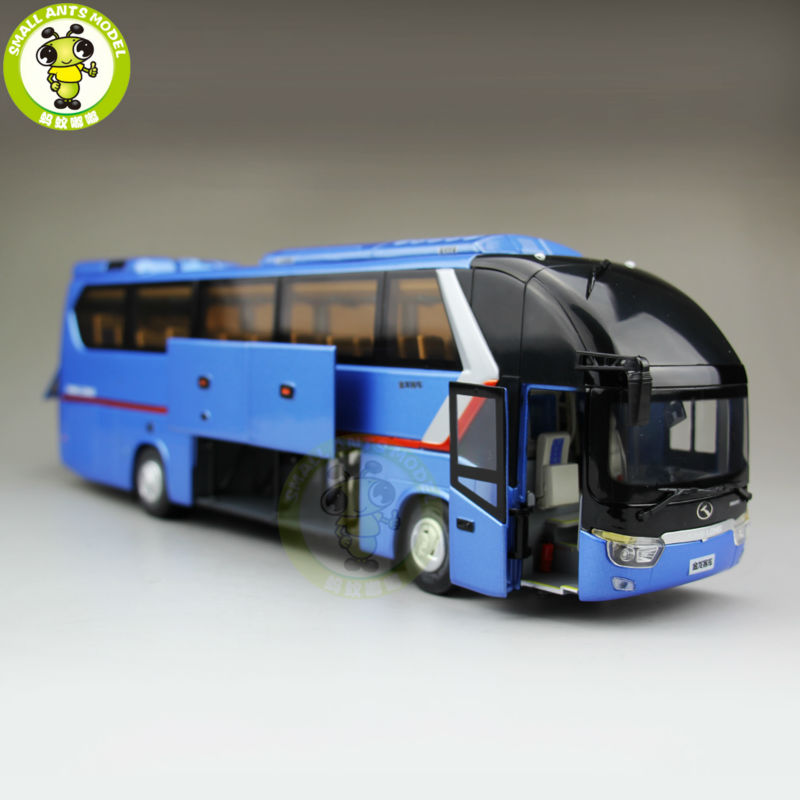 1/38 China Gold Dragon Bus Models XMQ6129Y5 Diecast Bus model Blue 1 38 china gold dragon bus models xml6122 diecast bus model blue