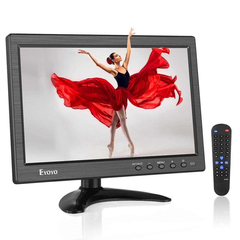 Eyoyo 10 polegada IPS Monitor de Segurança CCTV Portátil Pequeno Computador Portátil Monitor de Tela do Monitor LCD HDMI 1366x768 HDMI VGA BN