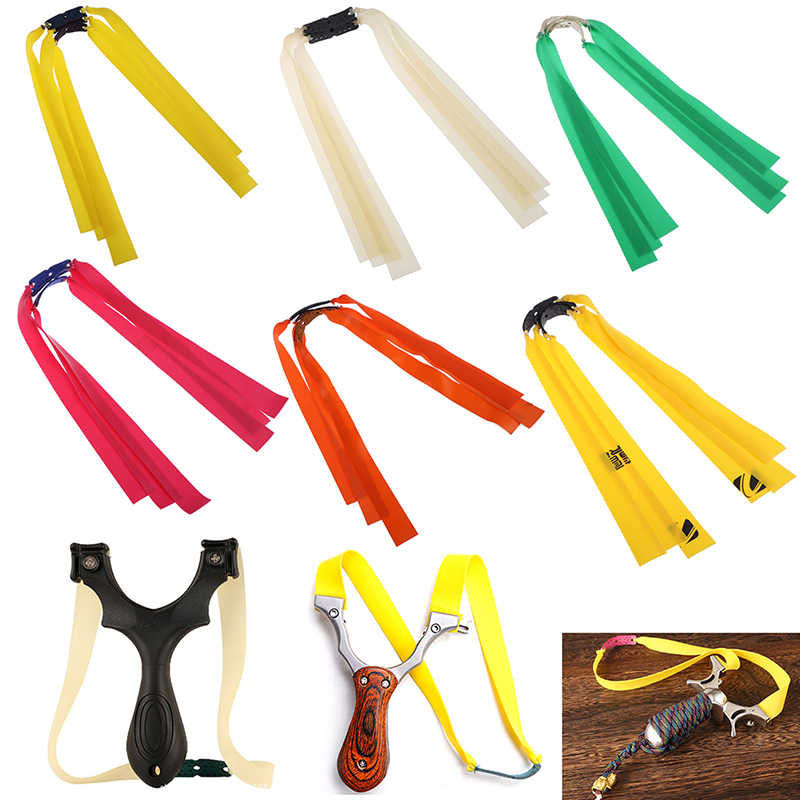 Slingshot hunting outdoor strong traditional natural rubber in flat leather tendons group Elastica Bungee Rubber Band 3PCS