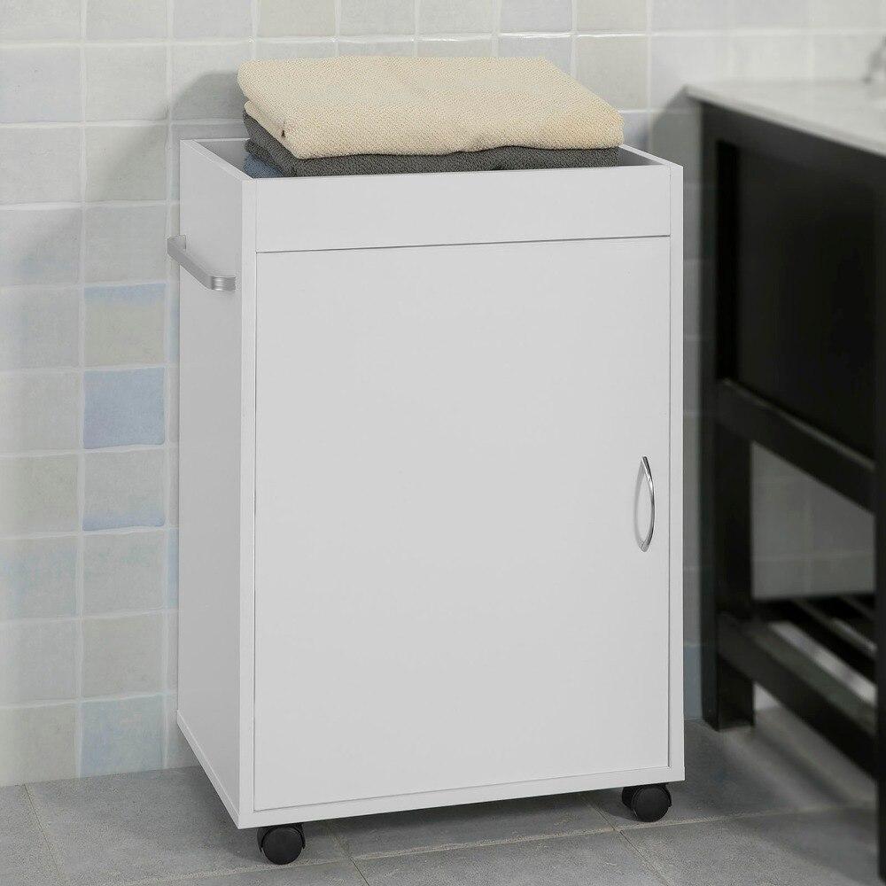 SoBuy FKW55-W, Kitchen Trolley Storage Serving Trolley Bathroom Storage Cabinet цена
