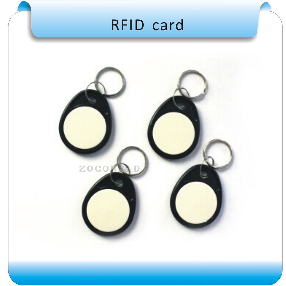 Black&white 100pcs 4# Keys TK4100 125KHZ RFID Frequency Access Controller Keyfob