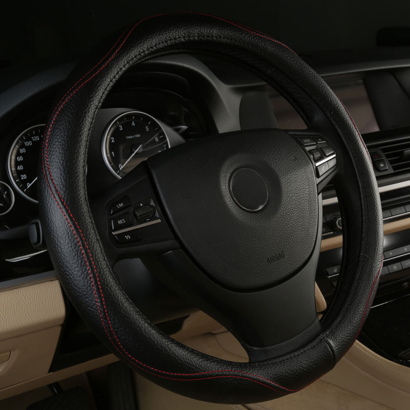Car Steering Wheels Cover Genuine Leather Accessories For Pontiac Gto Montana Sunbird Sunfire Torrent Trans Am Trans Sport Strong Resistance To Heat And Hard Wearing