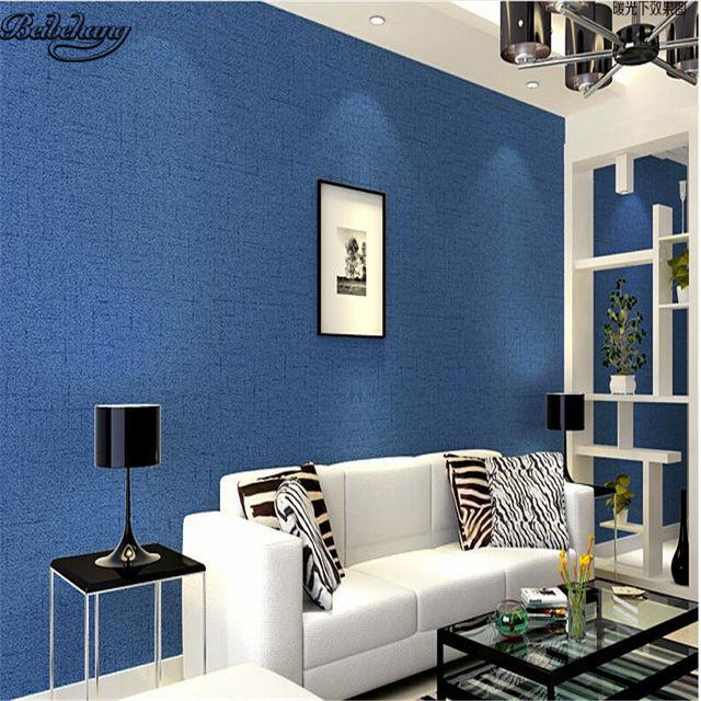 Beibehang Plaine solide couleur salon papier peint chambre simple ...