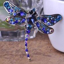 New Arrival Dragonfly Brooch Wedding Souvenir Bijoux Classic Picks Love Insect Broches Brand Women Rhinestone Broach Hijab Pins