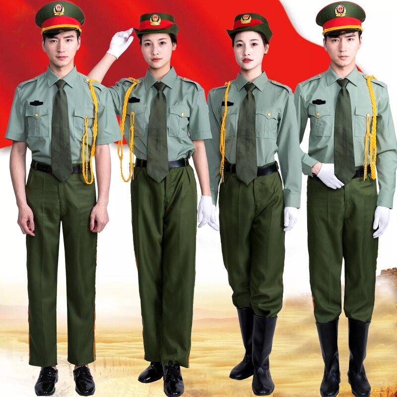 Kadınlar için yeni Gelmesi Ordu Koro Performansı Takım Askeri Üniforma Band Davul Takım Sahne Performansı Giyim